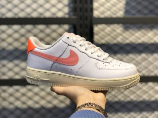 "CV3030-100 Nike Air Force 1 Low ""Digital Pink"" White/Orange-Soft Pink"