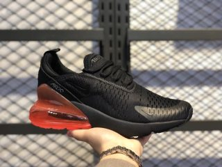 "Nike Air Max 270 ""Hot Punch"" AH8050-010 Black/Black-Hot Punch"