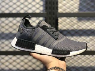 Adidas NMD R1 Cool Grey/Core Black-White Training Shoes F36801