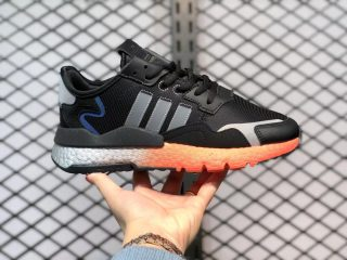 Adidas Nite Jogger Boost Running Shoes FY3686 Core Black/Black Silver-Solar Red