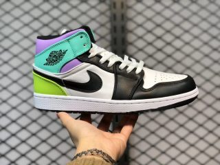 Air Jordan 1 Mid GS Pastel Multi-Color Top Shoes 554725-175