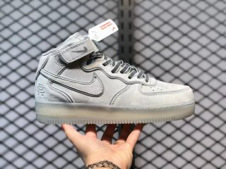 """Nike Air Force 1 07 Mid """"Reigning Champ"""" Grey/Silver Reflective GB1228-185"""