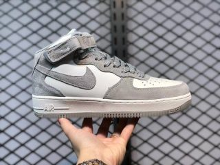 Nike Air Force 1 Mid Beige In Grey Unisex Sport Shoes CQ3866-015