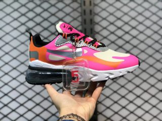 Nike Air Max 270 React CT1834-100 White/Pink-Orange Sneakers