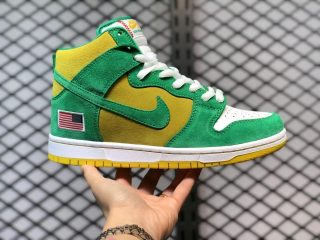 2021 Nike SB Dunk High Pro Stadium Green/Black-Speed Yellow 305050-337