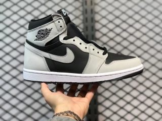 "Air Jordan 1 High OG ""Shadow 2.0"" Black/Light Smoke Grey-White 555088-035"