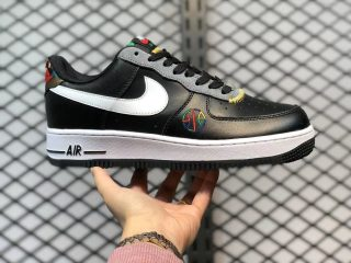 Nike Air Force 1 Low Black/Multi-Color Men's Skate Shoes DC1483-100