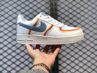 Nike Air Force 1 Low Sail/Light Armory Blue-Chili Red DJ4655-133