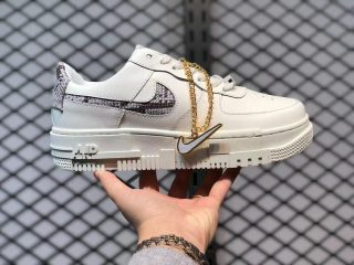 "Nike Air Force 1 Pixel ""Sail Snake"" Sail/Desert Sand-College Grey-Malt CV8481-101"