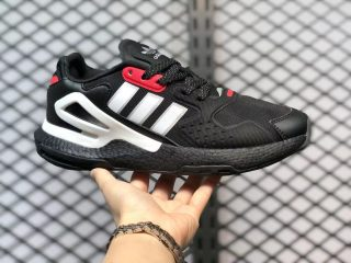 Adidas Day Jogger Core Black/Footwear White-Scarlet For Sale GZ2717