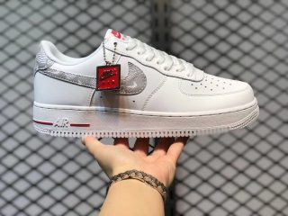 Nike Air Force 1 Low WMNS White Topography Red Grey DJ4625-100