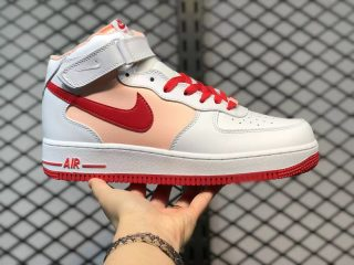 Nike Air Force 1 Mid Retro White University Red Best Sell CD0884-123