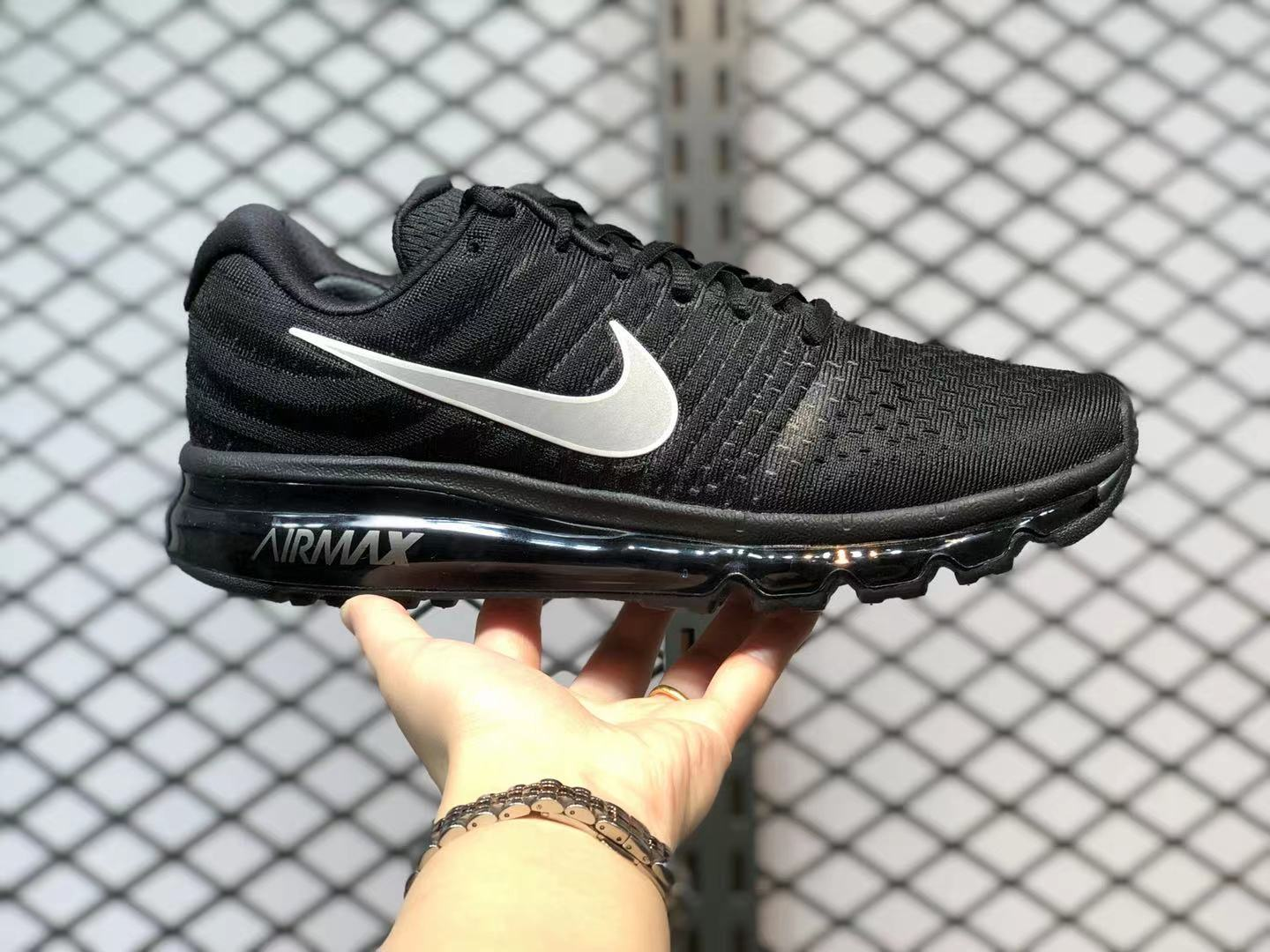 Latest Nike Air Max 2017 Black/Silver Sneakers 849559-001
