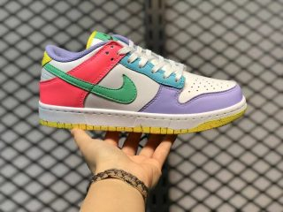 """Nike Dunk Low WMNS """"Easter"""" White/Green Glow-Sunset Pulse DD1872-100"""