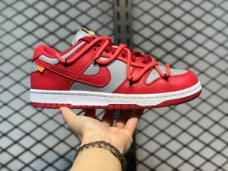 CT0856-600 Off-White x Nike SB Dunk Low University Red Sale