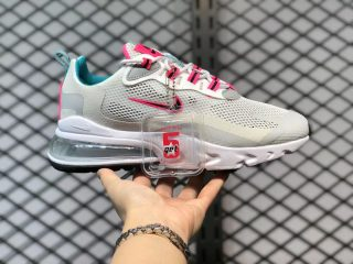 2021 Latest Nike WMNS Air Max 270 React White/Teal-Pink CZ1612-100