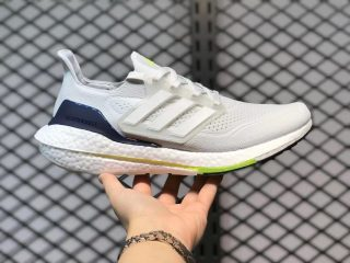 Adidas Ultra Boost 21 FY0371 Crystal White/Cloud White/Solar Yellow