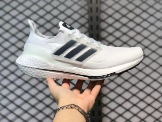 Adidas Ultra Boost 21 Shoes Non Dyed/Core Black-Night Flash FY0837