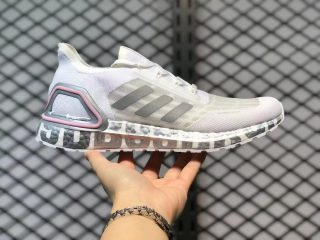 Adidas Ultra Boost S.RDY White Silver Pink Running Shoes FX0576