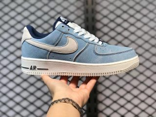 Nike Air Force 1 Low Blue Void/Sail Suede Sport Shoes DH0265-400
