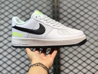 """Nike Air Force 1 Low """"Just Do It"""" White/Black-Volt DJ6878-100"""