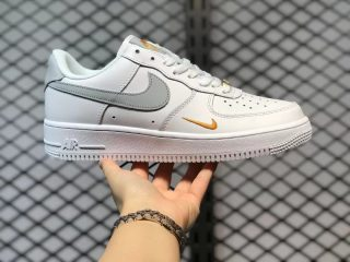 Nike Air Force 1 Low GS White/Neutral Grey-Gold New Sale CZ0270-106
