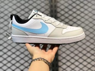 Nike Court Borough Low 2 White/Grey-Ice Blue Best Sell CW1624-100