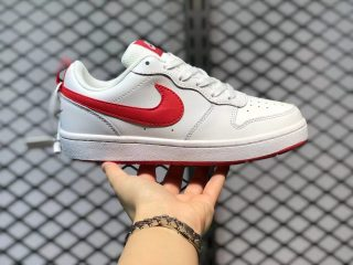 Nike Court Borough Low 2 White/Red Sneakers For Sale BQ5448-103