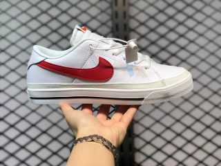 Nike Court Legacy White/Black-University Red Best Sell CU4150-105