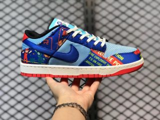 """Nike Dunk Low CNY """"Firecracker"""" Copa Hyper Blue/Chile Red-Sail DH4966-446"""