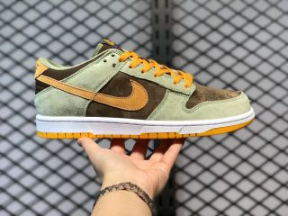 Nike Dunk Low Dusty Olive/Pro Gold Skate Shoes Hot Sale DH5360-300