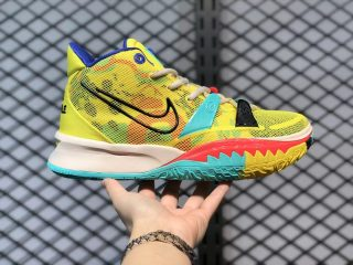 2021 Latest Nike Kyrie 7 EP Electric Yellow Sneakers CT4080-700