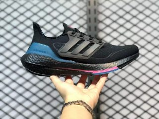 Adidas Ultra Boost 21 Core Black/Carbon-Active Teal On Sale FZ1921