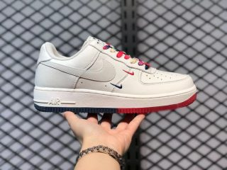 Nike Air Force 1 07 Low Rice White/Red-Blue Sneakers CT1989-102