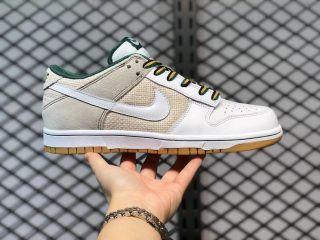 Nike Dunk Low Light Brown/White-Green Sneakers Hot Sale 308608-011
