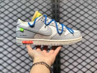 """Off-White x Nike Dunk Low """"10 Of 50"""" Grey/Royal For Buy DM1602-112"""