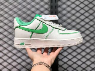 2021 Nike Air Force 1 Low Beige Fluorescent Green UH8958-022