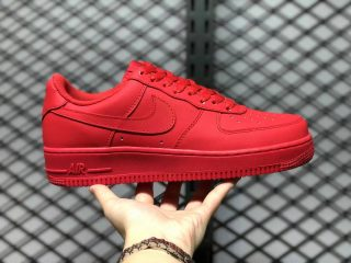 """2021 Nike Air Force 1 Low """"Triple Red"""" University Red/Black CW6999-600"""