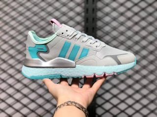 Adidas Nite Jogger Boost Grey Blue Silver H01729 Running Shoes