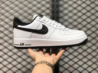 Cheap Nike Air Force 1 07 Low White Black Unisex Sneakers AA0287-100