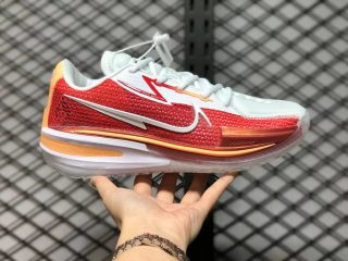 Nike Air Zoom GT Cut White Red Gold CZ0176-100 Basketball Shoes For Sale