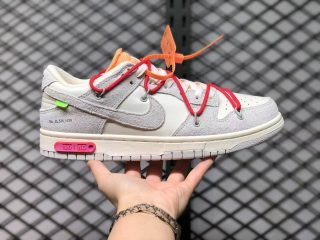 """Off-White x Nike Dunk Low """"Dear Summer 35 of 50"""" Sail/Neutral Grey-Global Red DJ0950-103"""