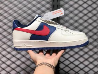 The Latest Nike Air Force 1 '07 Low White/Navy-Gym Red CW2288-901