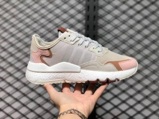 Adidas Nite Jogger Boost 3M Wonder White/Pink-Wild Sepia H01734 For Sale