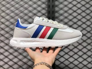 Adidas Retropy E5 Cloud White Blue Red Green Running Shoes Q47513 On Sale