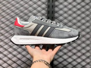 Adidas Retropy E5 Wolf Grey/Red-White GW4418 Newest Running Shoes